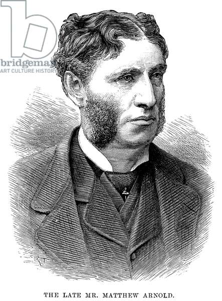 MATTHEW ARNOLD (1822-1888) English poet and critic. Line engraving, 1888.