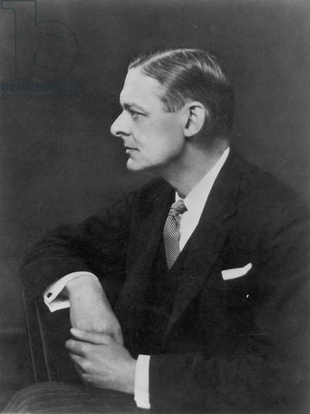 T. S. ELIOT (1888-1965) Thomas Stearns Eliot. American (naturalized British) poet and critic.