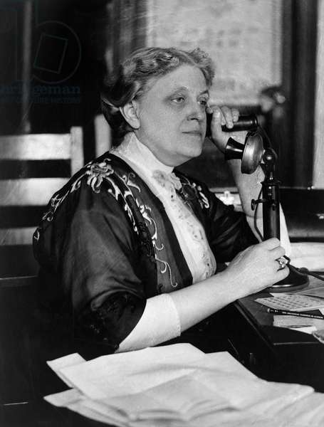 CARRIE CHAPMAN CATT (1859-1947). Carrie Clinton Chapman Catt. American reformer and women's rights advocate. Photograph, early 20th century.