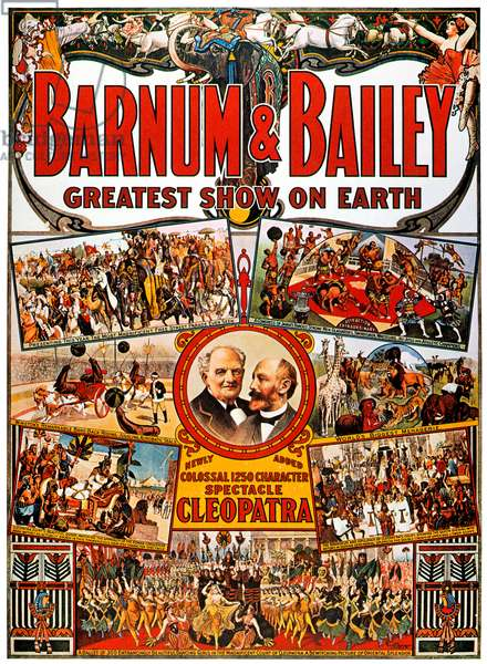 CIRCUS POSTER Barnum & Bailey, c. 1912.