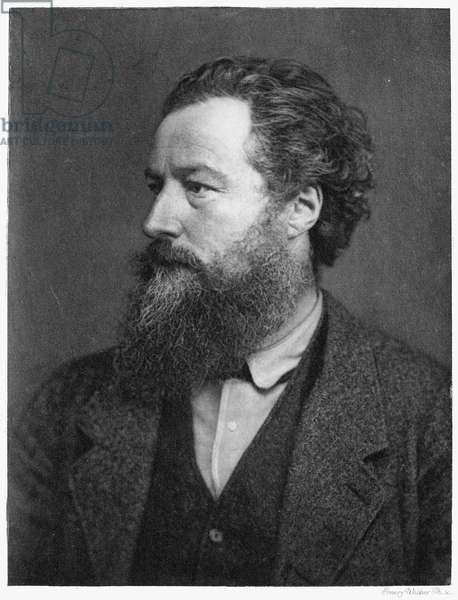 WILLIAM MORRIS (1834-1896) English artist and poet. Photographed in 1876.