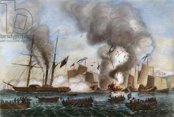FIRST OPIUM WAR, 1841 (engraving)