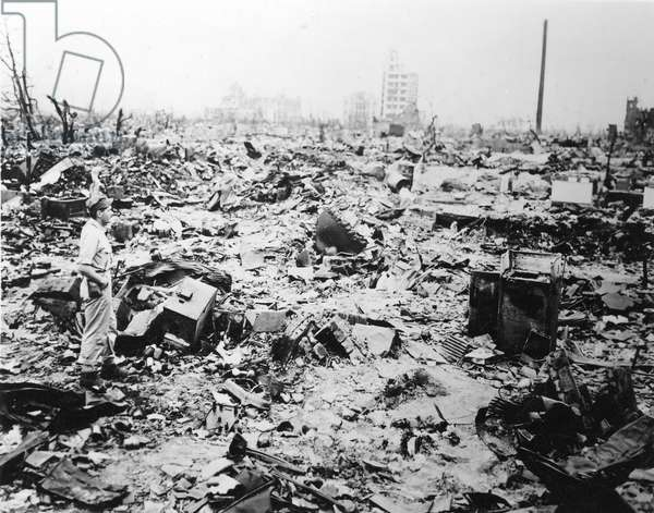 HIROSHIMA BOMBED, 1945 Hiroshima shortly after the explosion of the first atomic bomb, 6 August 1945.