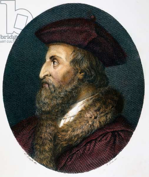 GIROLAMO FRACASTORO (1483-1553). Italian physician, astronomer and poet. Steel engraving, Italian, c.1820.