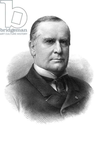 WILLIAM McKINLEY (1843-1901) 25th President of the United States. Steel engraving.