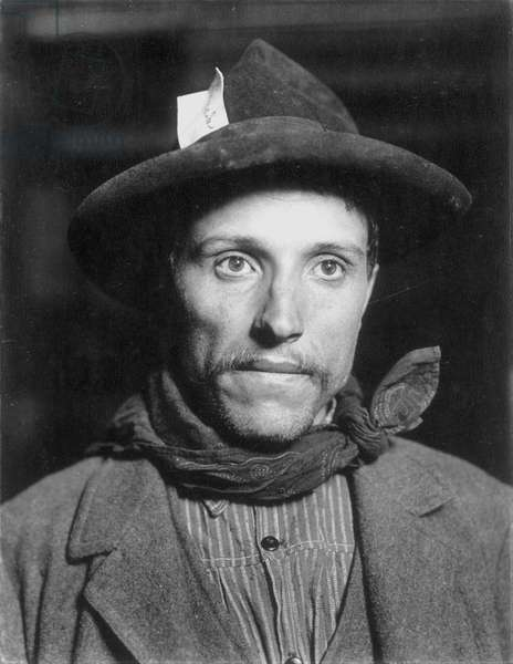ELLIS ISLAND: IMMIGRANT Swedish immigrant at Ellis Island, New York, c.1905.