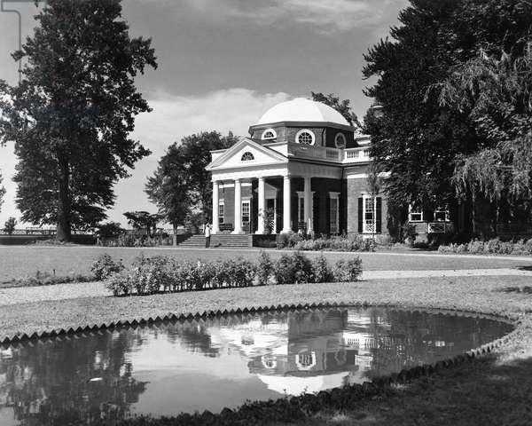 MONTICELLO Near Charlottesville, Virginia, the home of Thomas Jefferson.