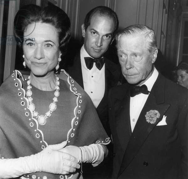 EDWARD VIII (1894-1972) King of Great Britain, 1936. Photographed with his wife, the Duchess of Windsor, in New York, 21 May 1968.