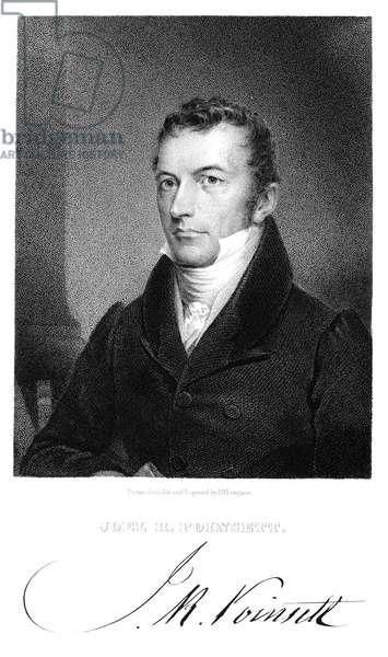 JOEL ROBERTS POINSETT (1779-1851). American legislator and diplomat. Line and stipple engraving, 1837.
