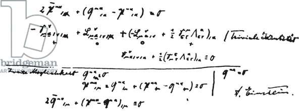 ALBERT EINSTEIN: NOTES Notes by Albert Einstein for his Unified Field Theory.