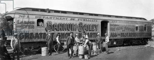 CIRCUS TRAIN from Barnum & Bailey's Greatest Show on Earth, c. 1905.