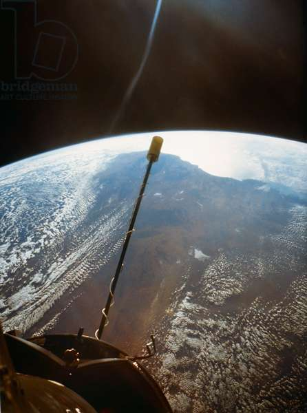 EARTH FROM SPACE, 1966 Western Australia, as seen from the Gemini II spacecraft. Photograph, 1966.