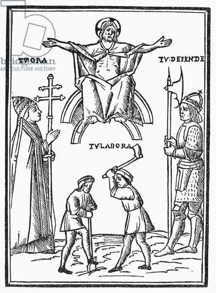 ASTROLOGY BOOK, 1511 Woodcut from an edition of Johannes Lichtenberger's astrology text 'Pronosticatio,' Venice, 1511.