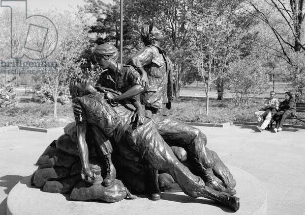 VIETNAM VETERAN'S MEMORIAL The Vietnam Women's Memorial, at the Vietnam Veterans Memorial in West Potomac Park, Washington, D.C. Photograph, 1996.