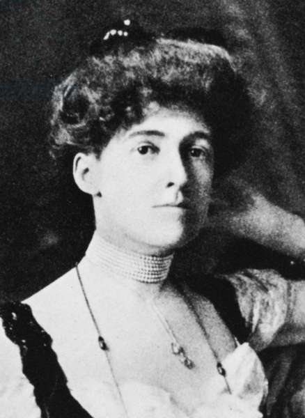 EDITH NEWBOLD WHARTON (1862-1937). American writer. Photographed c.1900.