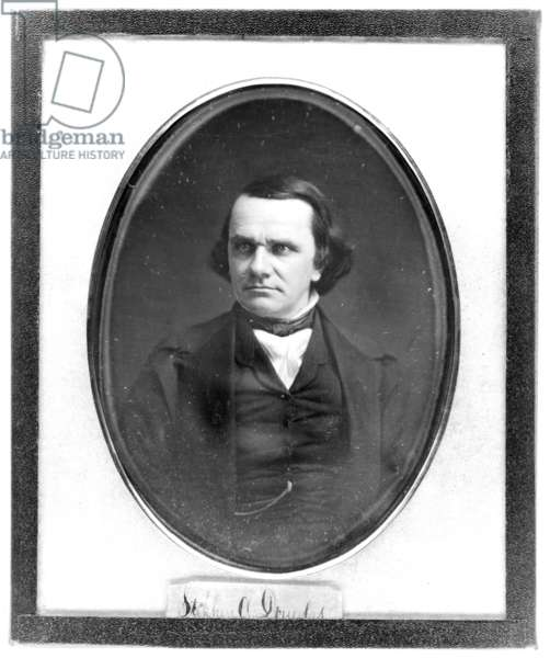 STEPHEN ARNOLD DOUGLAS (1813-1861). American political leader. Daguerreotype, c.1852, by Mathew Brady.