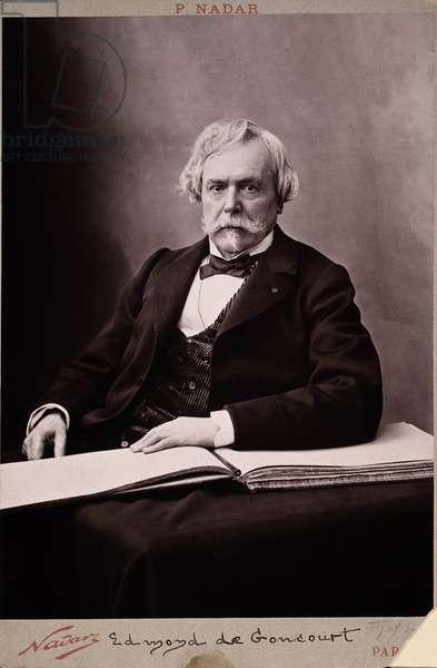 EDMOND LOUIS ANTOINE DE GONCOURT (1822-1896) French novelist: phtographed by Nadar