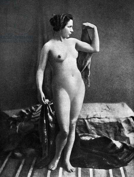 NUDE POSING, c.1855.