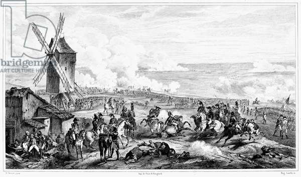 FRENCH REVOLUTION, 1792 The Battle of Valmy, 20 September 1792. Engraving after a contemporary painting by Horace Vernet.