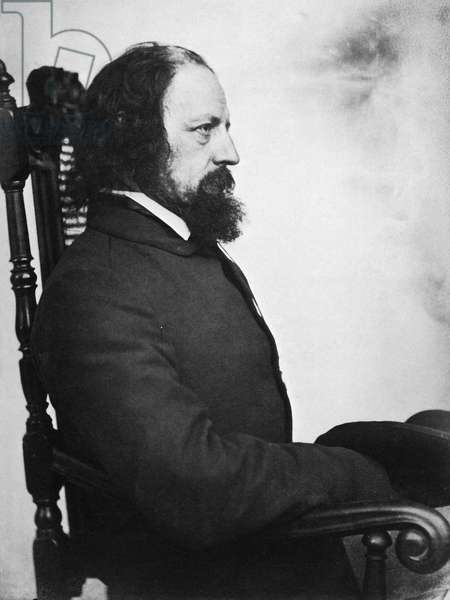 ALFRED TENNYSON (1809-1892) 1st Baron Tennyson. English poet. Photographed c.1863 by O.G. Rejlander.