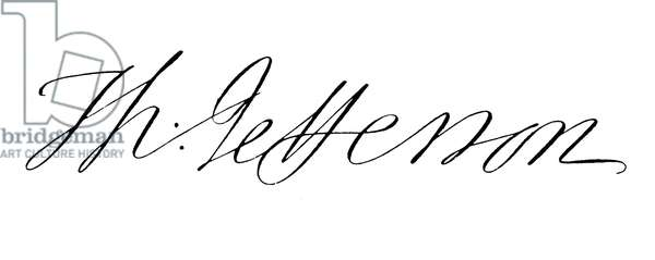 THOMAS JEFFERSON (1743-1826) Third President of the United States. Autograph signature.