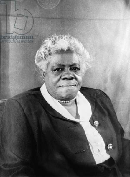 MARY MCLEOD BETHUNE (1875-1955). American educator and civil rights leader. Photograph by Carl Van Vechten, 1949.