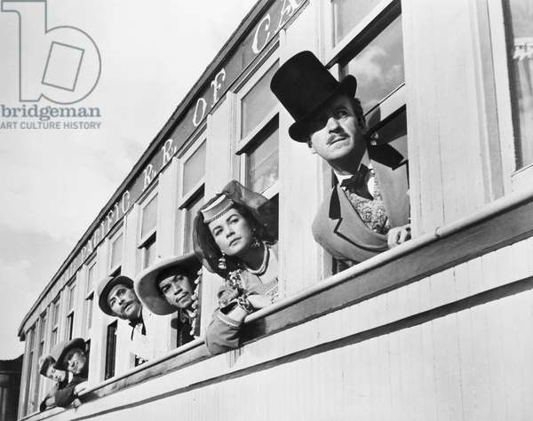 FILM: AROUND THE WORLD From right: David Niven, Shirley MacLaine, Cantinflas, and Robert Newton in the 1956 film, 'Around the World in 80 Days.'