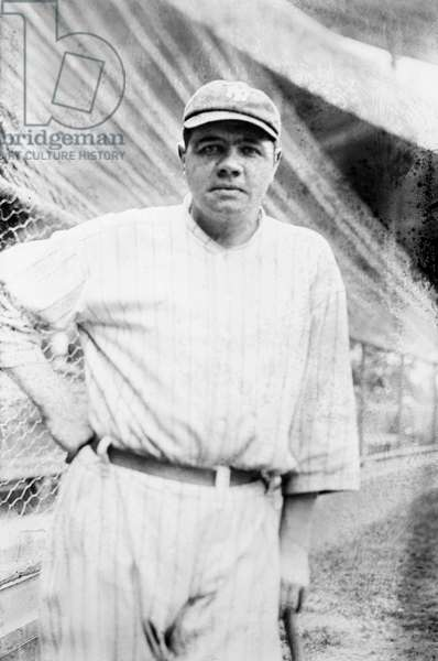 GEORGE H. RUTH (1895-1948) Known as Babe Ruth. American baseball player. Photographed while playing for the New York Yankees, 1921.