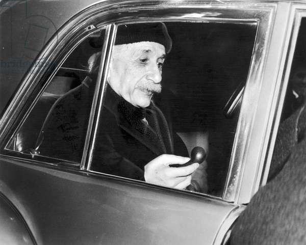 ALBERT EINSTEIN (1879-1955) American (German-born) theoretical physicist. Photographed in 1949.