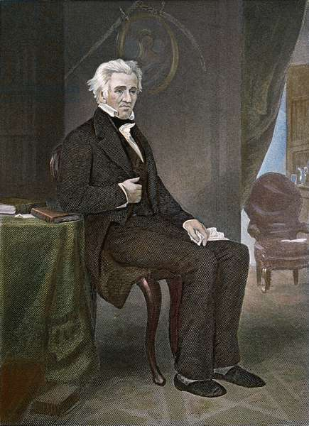 ANDREW JACKSON (1767-1845) Seventh President of the United States. Engraving after a painting by Alonzo Chappel, 1874.