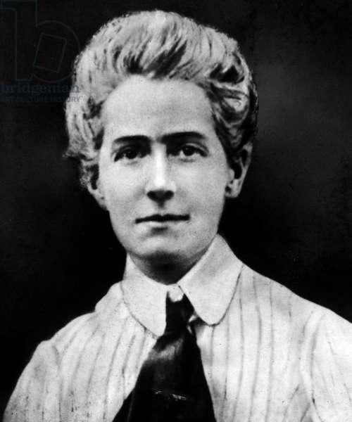EDITH LOUISA CAVELL (1865-1915) English nurse.