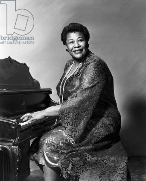 ELLA FITZGERALD (1917-1996) American singer. Publicity still for the motion picture 'Pete Kelly's Blues,' 1955.