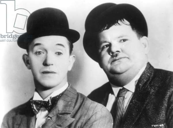 LAUREL AND HARDY, 1939 Publicity still from the motion picture 'Flying Deuces', 1939.