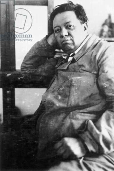 DIEGO RIVERA (1886-1957) Mexican painter; photographed in 1929.