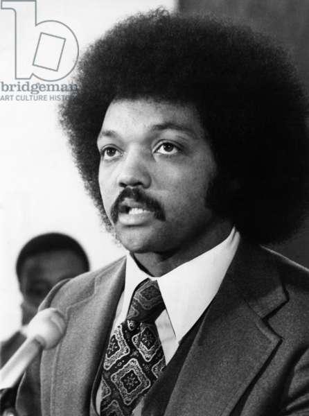 JESSE JACKSON (1941- ) American civil rights leader. Photograph, 1975.
