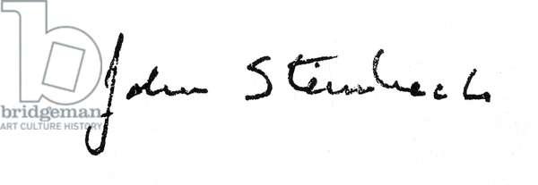 JOHN STEINBECK (1902-1968) American writer. Autograph signature.