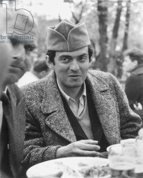 STANLEY KUBRICK (1928-1999) American film director. Photographed on the set.