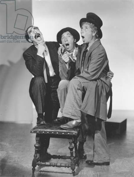 THE MARX BROTHERS, 1930s Groucho, Chico, and Harpo.