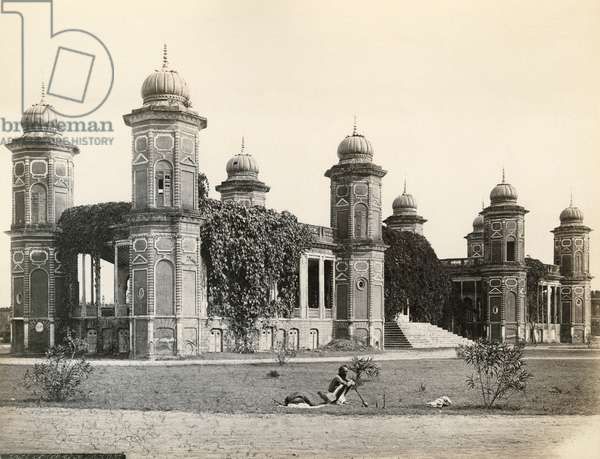 INDIA: QAISER BAGH The Qaisar Bagh in Lucknow, India. Photograph by Francis Frith, c.1860.