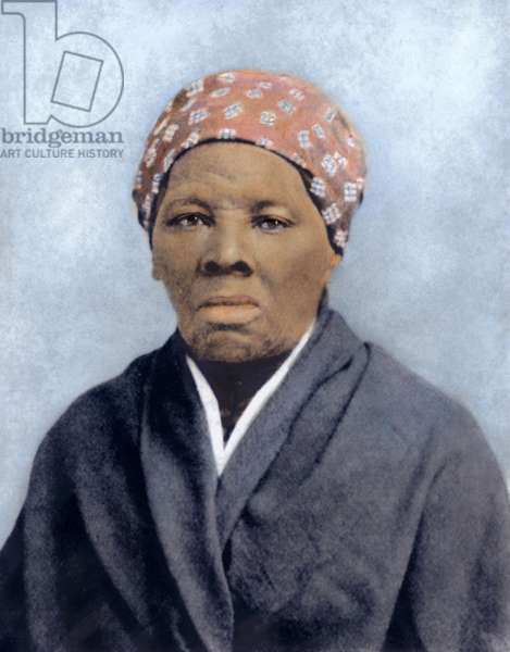 HARRIET TUBMAN (1823-1913) American abolitionist. Oil over a photograph, 1895.