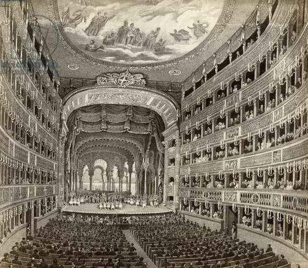 NAPLES: OPERA HOUSE The Teatro di San Carlo in Naples, Italy. Photograph, c.1900.