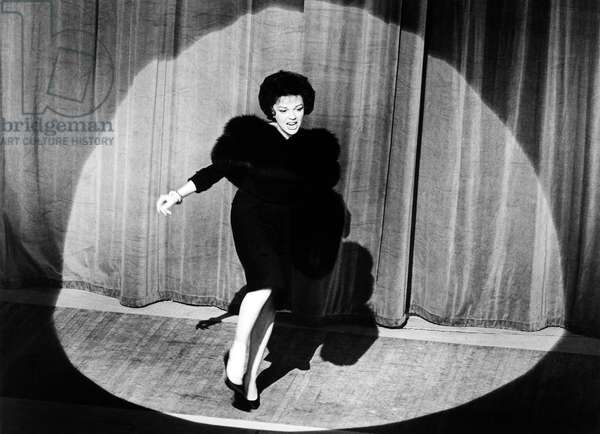 JUDY GARLAND (1922-1969) American singer and actress. Film still, 1963.