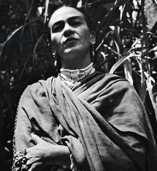 FRIDA KAHLO (1907-1954) Mexican painter. Photographed, 1952, by Gisele Freund.