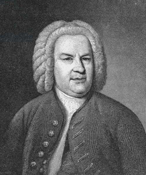 JOHANN SEBASTIAN BACH (1685-1750). German organist and composer. Line engraving, 19th century, after the painting by Elias Gottlob Haussmann.