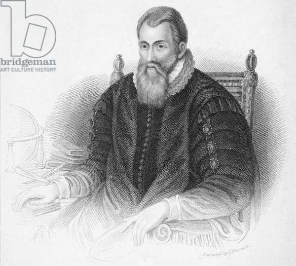 JOHN NAPIER (1550-1617) Lord of Merchiston. Scottish mathematician. Stipple engraving, 19th century.