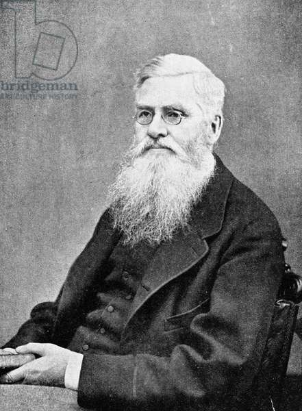ALFRED RUSSEL WALLACE (1823-1913). English naturalist. Photographed in 1878.
