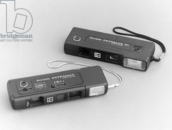KODAK CAMERAS, 1978 Kodak Ektralite 10 and the Kodak Ektramax cameras, 1978.