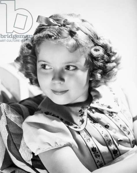 SHIRLEY TEMPLE (1928-2014) American actress. Photograph, c.1935.