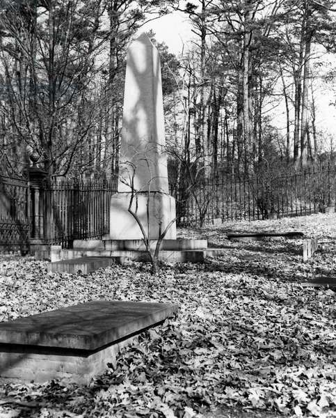 THOMAS JEFFERSON (1743-1826) Third President of the United States. Jefferson's grave at Monticello, near Charlottesvile, Virginia.