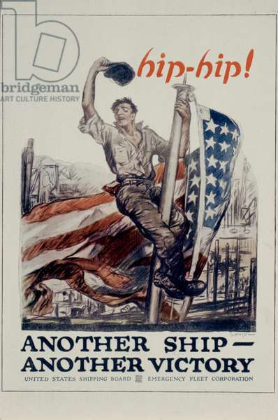 WORLD WAR I: LIBERTY LOAN 'Another Ship - Another Victory.' American World War I Liberty Bond poster.